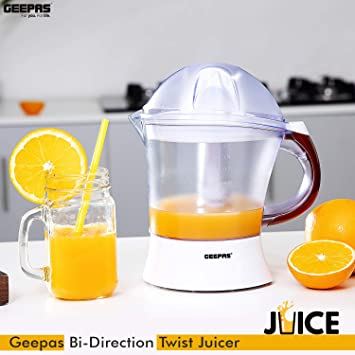 GEEPAS 25W 1.2L Plastic Citrus Juicer