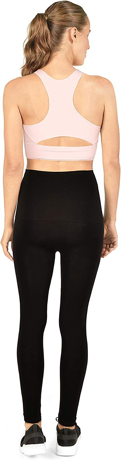 ANGLD shaping leggings for women high waist figure-shaping leggings in black with slimming function opaque sports leggings with anti-cellulite factor seamless shapewear training leggings M