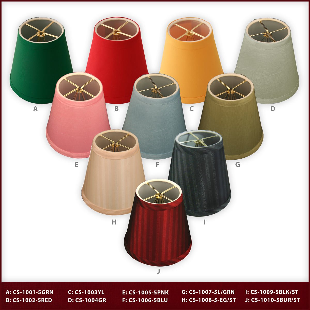 CS-1003-5YEL Size 5 Royal Designs Yellow Hardback Empire Chandelier Lamp Shade