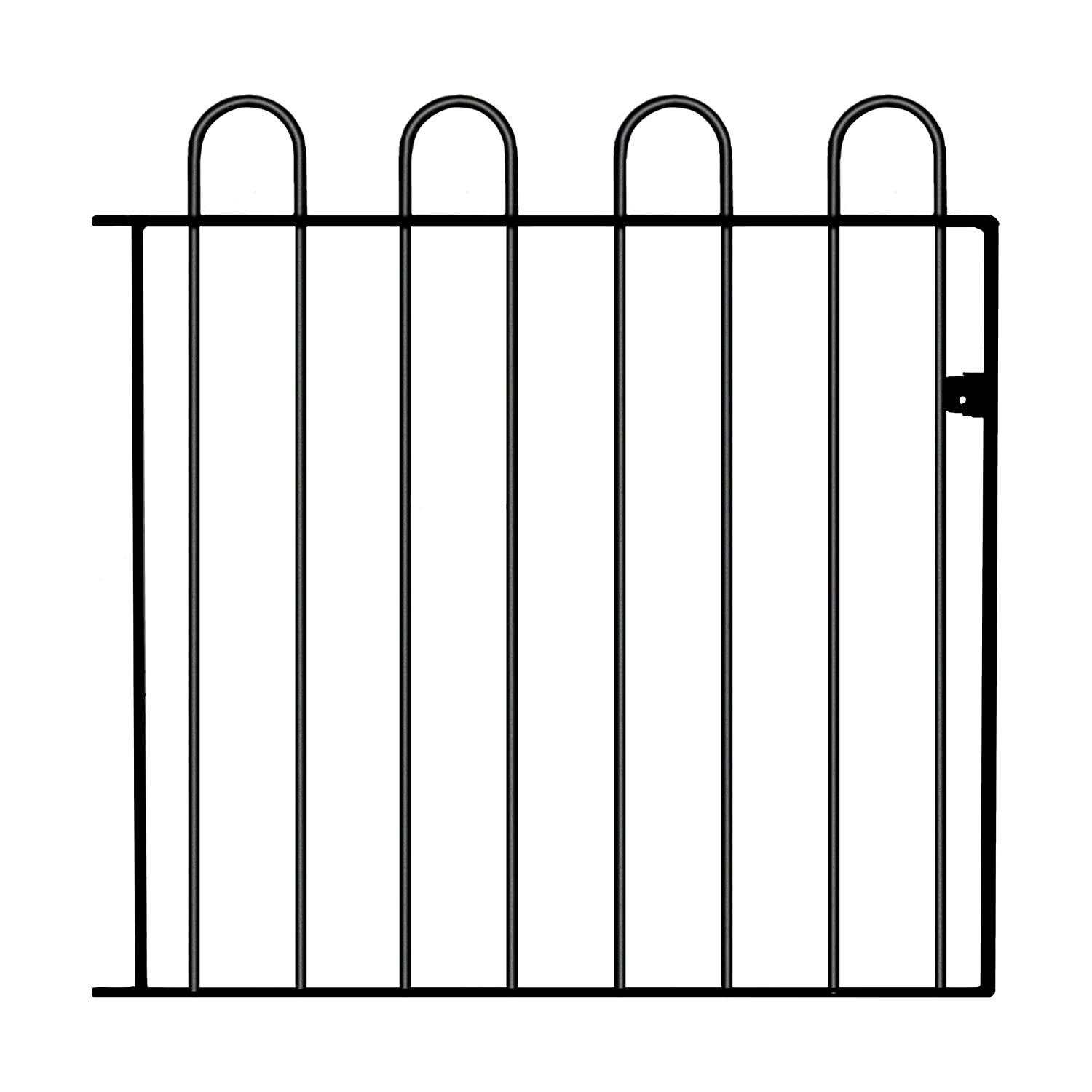 Court Hoop Top Garden Gates fits 1000mm (3ft 3in) GAP x 950mm High wrought iron style metal gate CR05