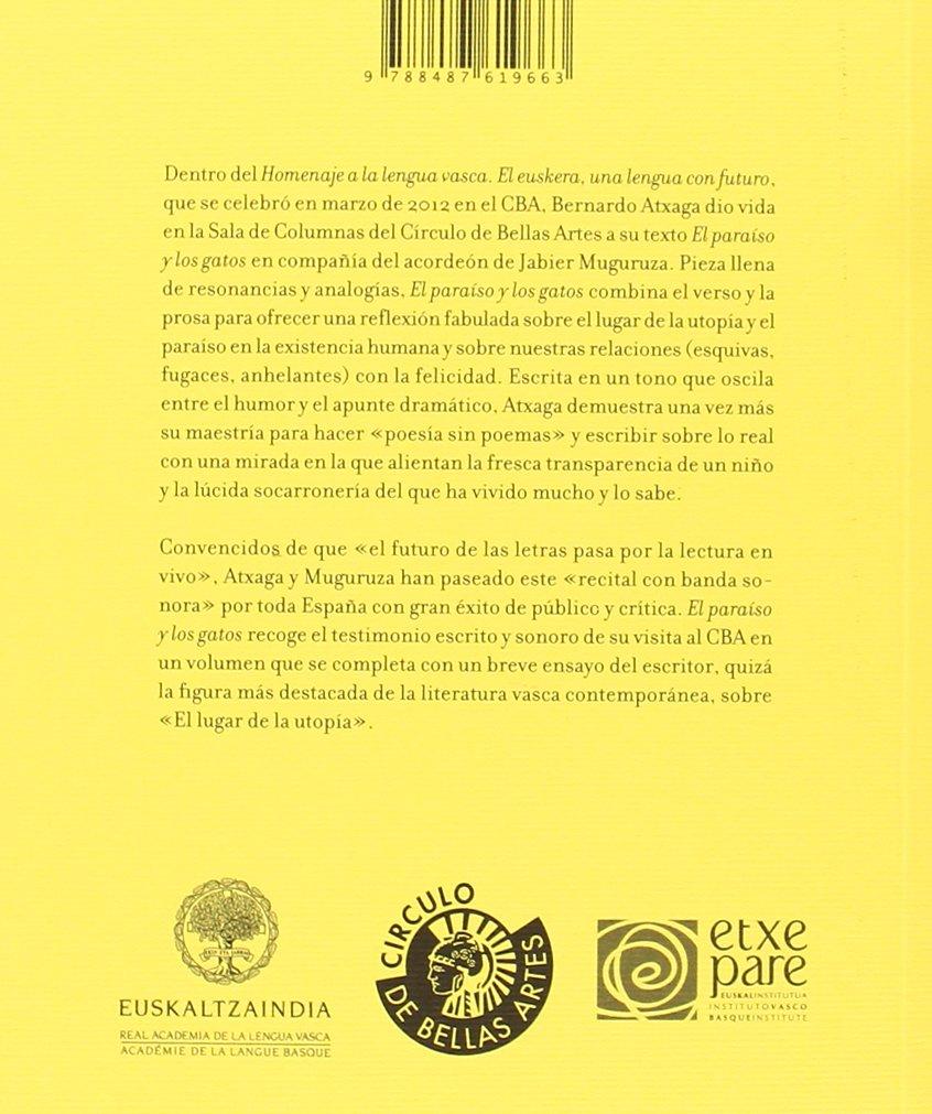PARAISO Y LOS GATOS CD, EL: Bernardo Atxaga: 9788487619663 ...