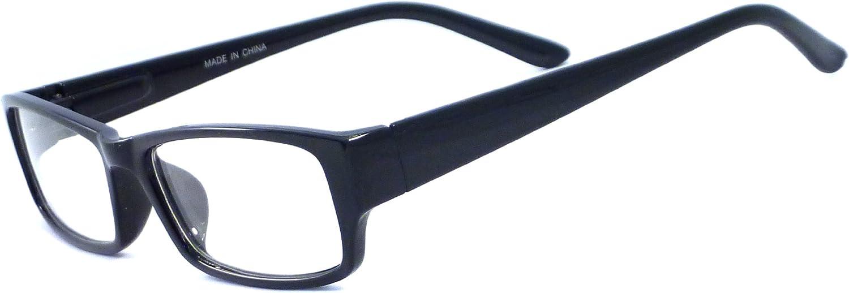 VINTAGE Style Designer Frame Clear Lens Eyeglasses BLACK