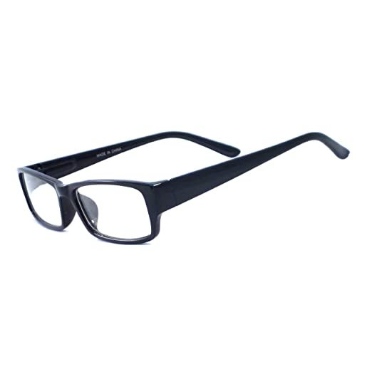 db416ba8a502 Image Unavailable. Image not available for. Color  VINTAGE Style Designer Frame  Clear Lens Eyeglasses BLACK