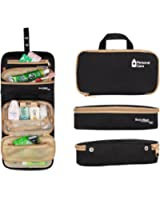 FLYCOOL Hanging Toiletry Bag Travel Organizer Cosmetic Bag for Men and Women