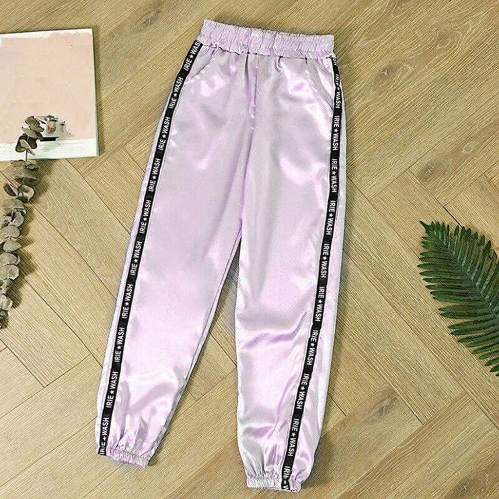 Pantaloni Donna Riflettente Flash Jogger Casual Streetwear Pantalone Salopette Moda Tuta Eleganti Ragazza Trousers Lavoro Tuta Pantaloni Pants Lunghi Abbigliamento