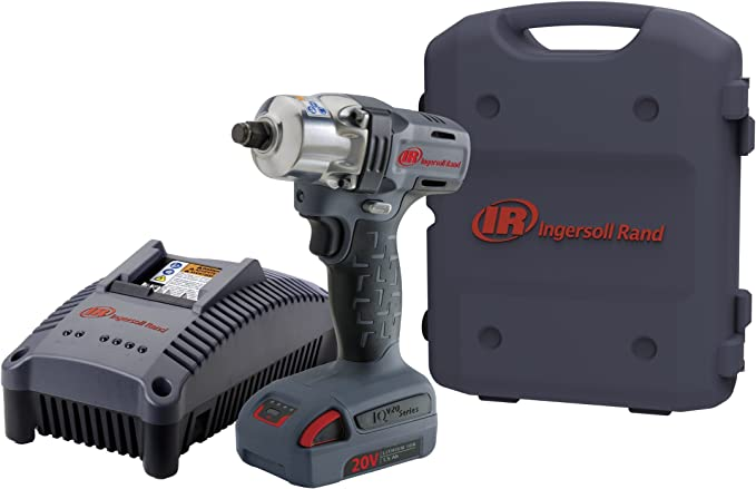 1//2 1//2 Li-Ion Battery and Case Ingersoll Rand W5150-K12 Mid-Torque Impactool Kit with Charger