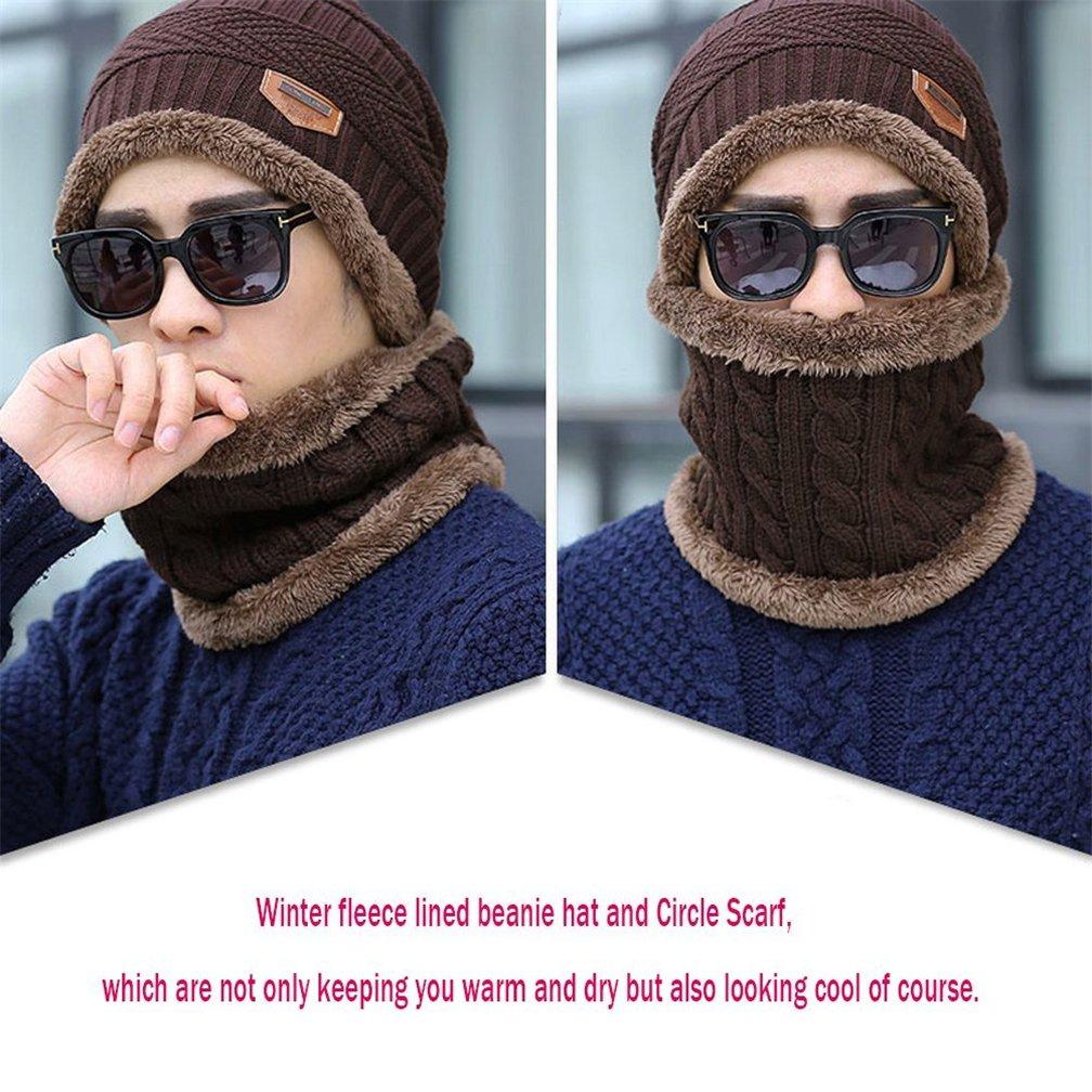 TMEOG Gorras Hombre de Punto Gorras con Bufanda y Gorros de Punto Sombreros de Invierno Hombre Invierno