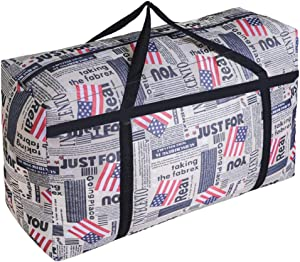 WITERY Large Storage Bag 120L Garden Furniture Cushion With Zip Waterproof Sturdy 600D Oxford Moving Clothes Storage Bags Organizer Bags For Bedding, Duvets, Pillows, Clothes Moving Home