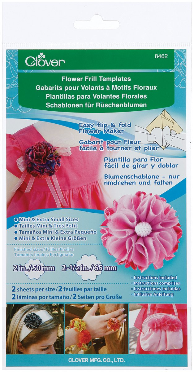 Amazon.com: Clover Small and Medium Flower Frill Templates (8460)