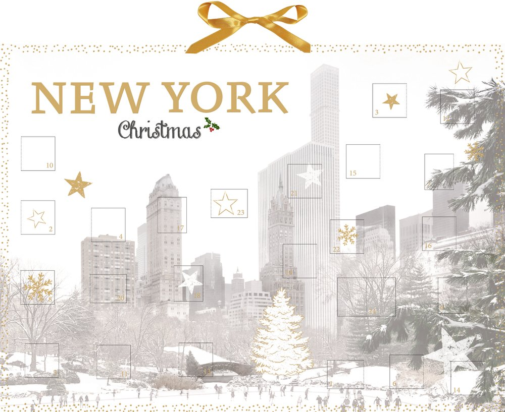 Wand-Adventskalender - New York Christmas: Amazon.de: Julia Cawley ...