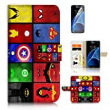 ( For Samsung S7 , Galaxy S7 ) Flip Wallet Case
