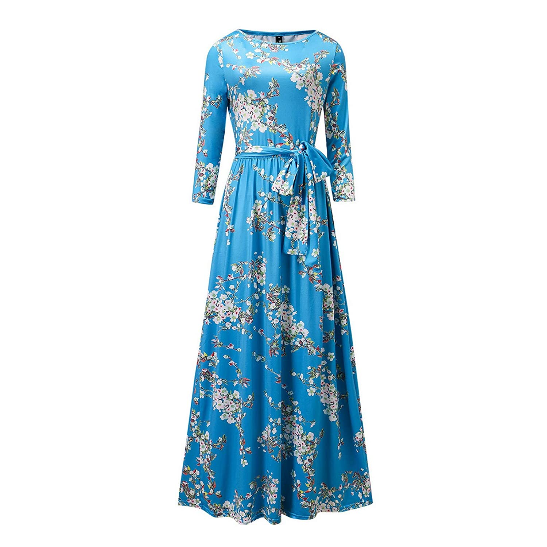 Buy Beauty6 6pcs 6XL Blue Women Fashion Dress Temperament Dress