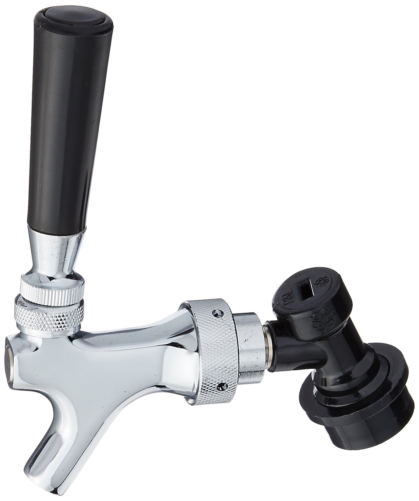 Beer Faucet, Chrome, Cornelius Ball Lock Disconnect Attached