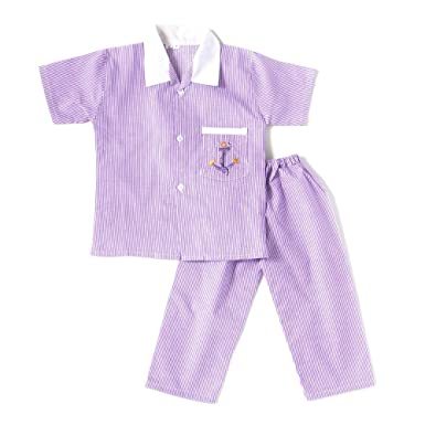 f0714b9c47 BownBee Embroidered Collared Night Suits: Amazon.in: Clothing & Accessories