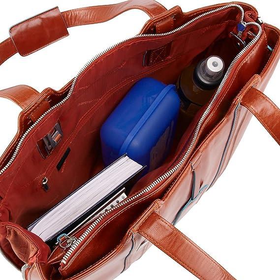 7fb6adf1bbccb7 Piquadro Blue Square cartella portadocumenti pelle 39 cm compartimenti  portatile orange: Amazon.it: Scarpe e borse