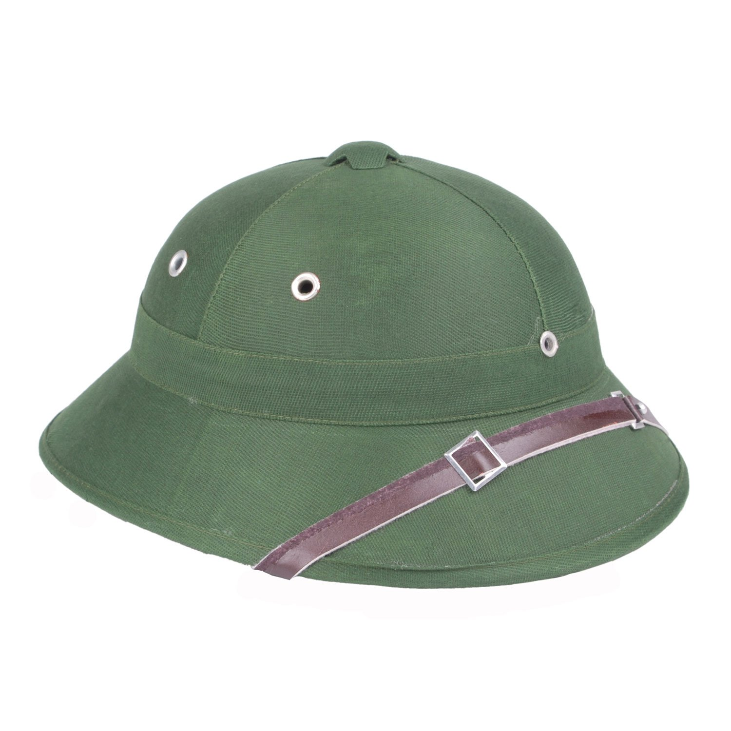 cf0feb20548 Reproduction Vietnam War Army Hat NVA Vietcong Vc Pith Helmet Green   Amazon.co.uk  Sports   Outdoors