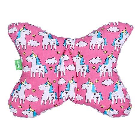 lulando 5902659884152 un, transpirable para dormir saludable Cojín de bebé para niños, 40 x 30 cm, color rosa