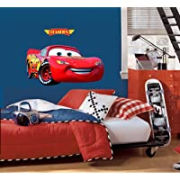 Asmi Collections PVC Wall Stickers McQueen Disney Cars