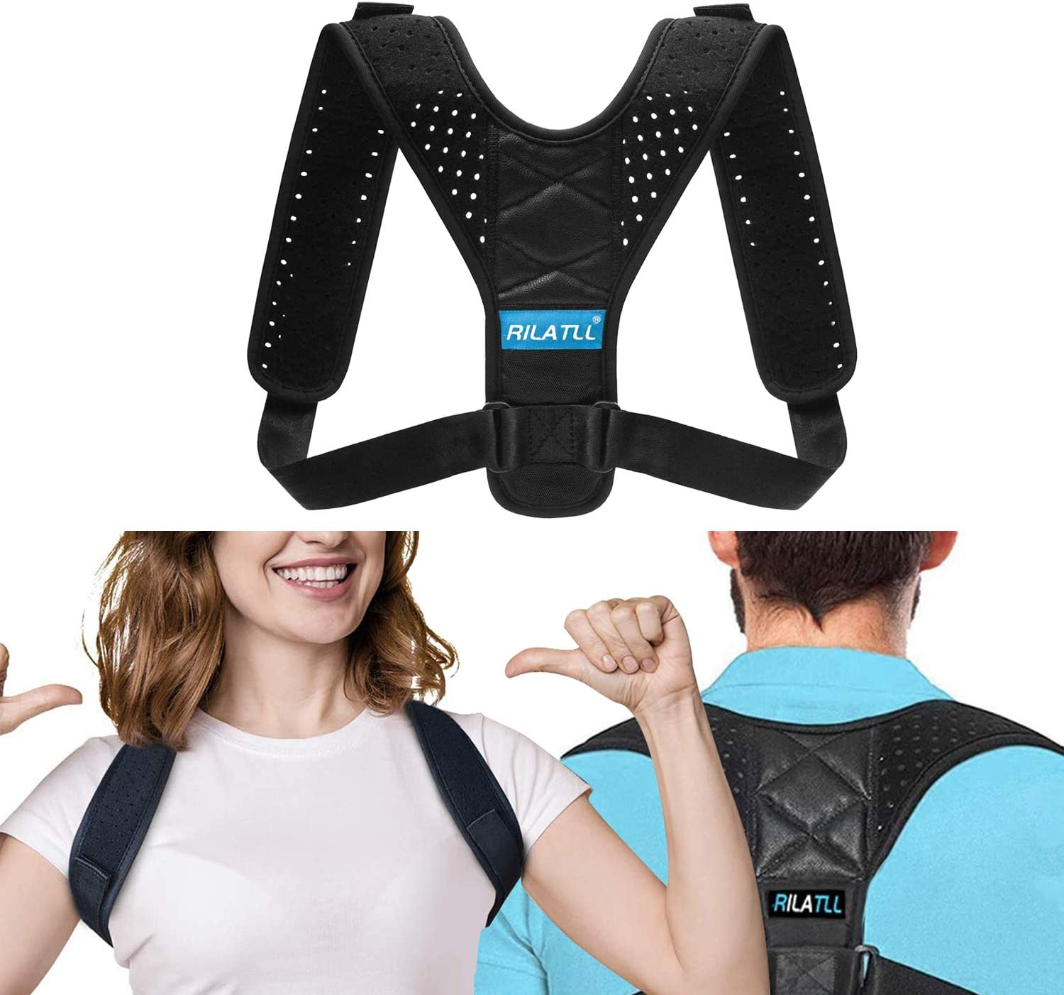 Posture Corrector Upper Back Posture Corrector for Men//Women Breathable and Durable Neoprene L Back Brace for Lower Back Pain Back Braces for Posture Correction Comfortable Wear