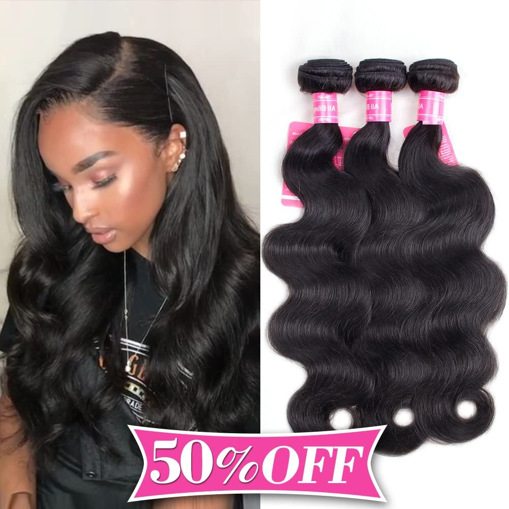 Ali Bling Free Part Closure Body Wave Virgin Brazilian Hair 130 Density Lace Closure Natural Hair Color Soft And Silky 14 Inch Price In Uae Amazon Uae Kanbkam