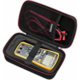 RLSOCO Hard Carrying case for Auto-Ranging Digital Multimeter Neoteck 6000 Counts/BM235/ Tacklife DM01M/Fluke 101/Fluke 115/116/117/113/114/F15B+/F17B+/F18B+ Digital Multimeter and More