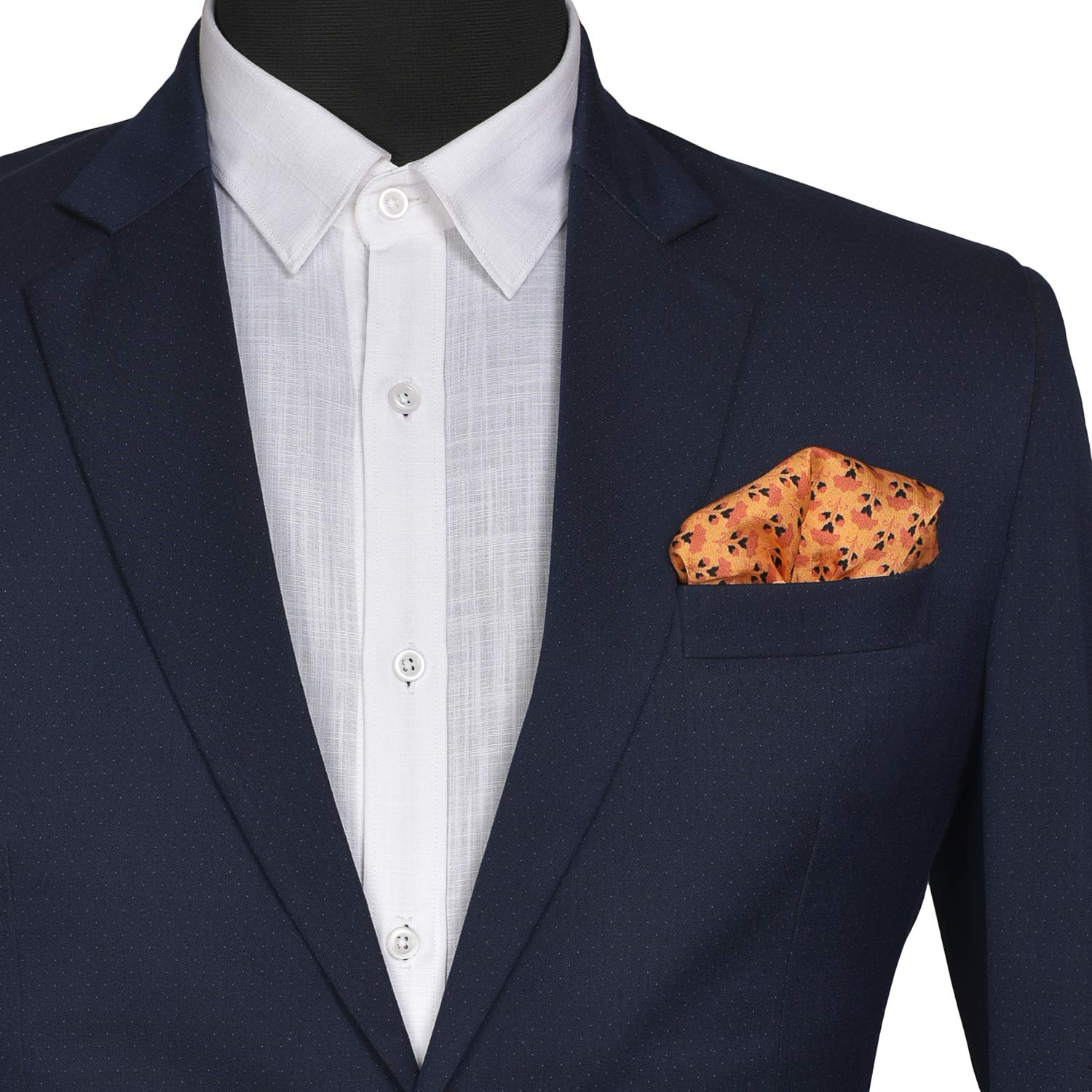 Indian At Heart line/_ IH81407/_61N Chokore Tangerine Silk Pocket Square