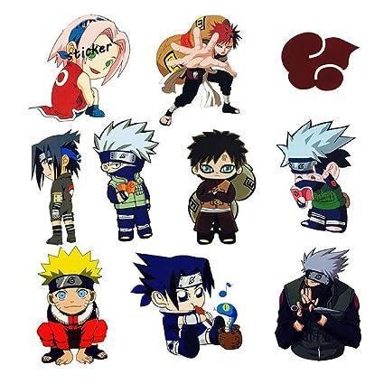 Amazon.com: 10pcs/lot Japan Anime Cartoon Naruto Stickers ...