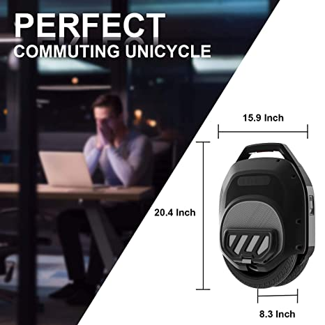 Amazon.com: Hoverclub Solo Electric Unicycle, Unicycles de ...