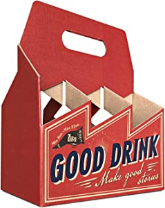 STUBEER - Corrugated Cardboard 6 Pack 22oz 750ml Beer Carrier Holder/Takeout Containers(6 Products Per-Pack)