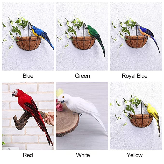 Festnight Sala de Estar Dormitorio Decoraci/ón Home Park Garden Vivid Artificial Bird Fancy Pluma Loro Decorativo Prop