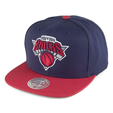 117a0bf94af Mitchell   Ness New York Knicks Snapback Cap - Current Throwback - Navy-Red  Adjustable