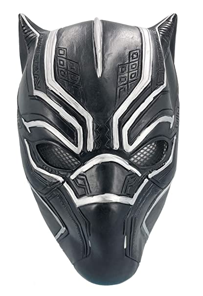 06b4844c Black Panther Mask Latex Face Helmet Decoration Theme Party Props Halloween  Costume Accessory Adult