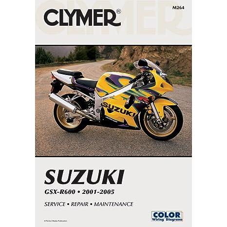amazon com 2001 2005 suzuki gsxr 600 clymer repair manual automotive rh amazon com 2005 suzuki gsxr 1000 service manual pdf 2005 suzuki gsxr 750 service manual