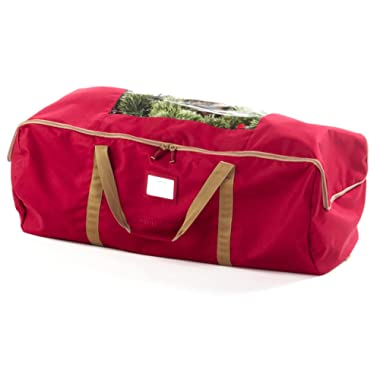 Covermates – XLarge Holiday Storage Duffel Bag – Fits 9 to 11 Foot Tree – 3 Year Warranty- Red