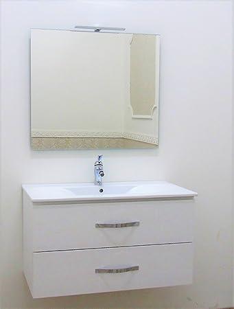 mobile bagno sospeso bianco opaco moderno arredo bagno sospeso ... - Arredo Bagno Sospeso Offerte