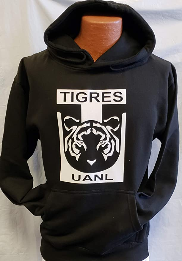 Amazon.com : New Universidad Autonama de Tigres Sudadera De Gorro Hoodie Size S : Sports & Outdoors