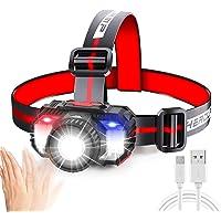 Headlamp with Zoom Function,Jornarshar Headlight Outdoor Led with Motion Sensor Light Switch,Head Light Flashlight…