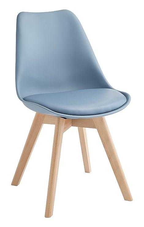 Design Twist Tommy Set di 4 Sedie, Legno, Blu, 52 x 48.5 x 82 cm ...