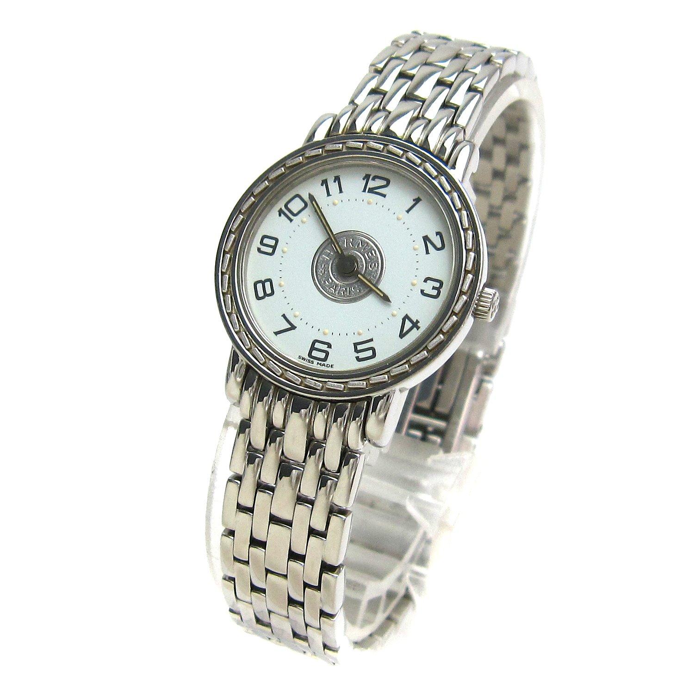 [エルメス]Hermes 腕時計 SE4.210 セリエ 白文字盤 watch レディース 中古 B07FCQSLJL
