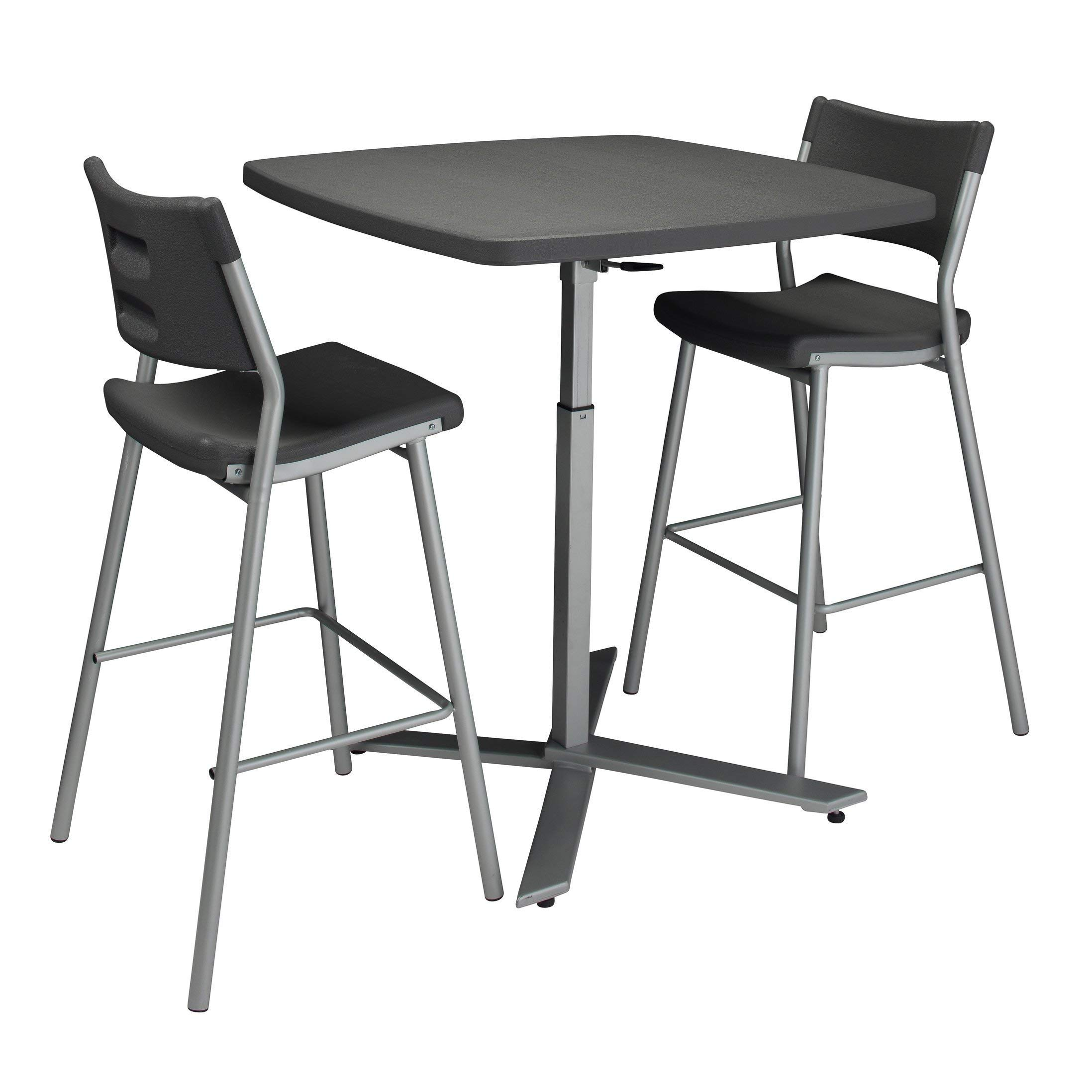 National Public Seating NPS Cafe Time Table and 4 Stools Set