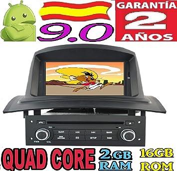 Renault Megane 2 II Android 8.1 Quad Core 2GB RAM 16 GB ROM GPS Radio Coche DVD AUTORADIO WiFi 3g 4g navi navegador AÑO: 2002 2003 2004 2005 2006 2007 ...