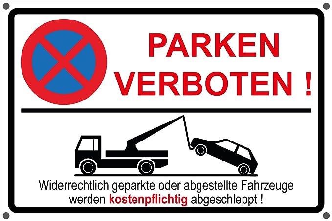 Prohibido aparcar parkverbot Privado Aparcamiento Nota ...