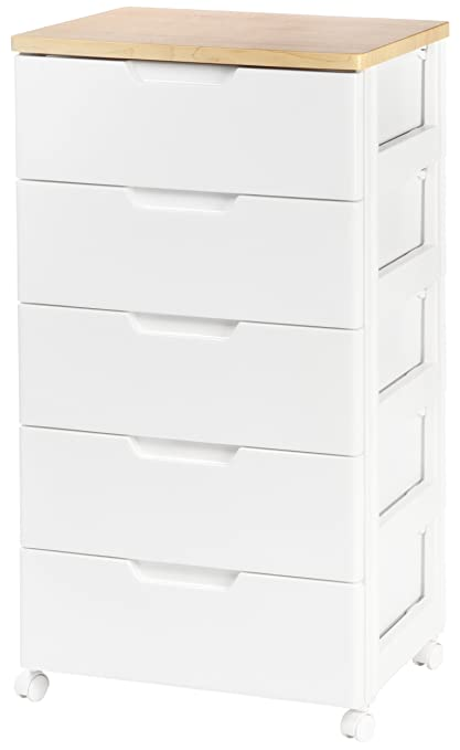 IRIS USA, Inc. IRIS Premier Collection 5 Drawer Storage Chest, White And