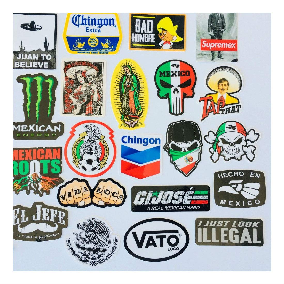 MEXICAN CHINGON Hard Hat Stickers 40 MEXICO HardHat Sticker Pegatinas cascos by Unknown (Image #4)