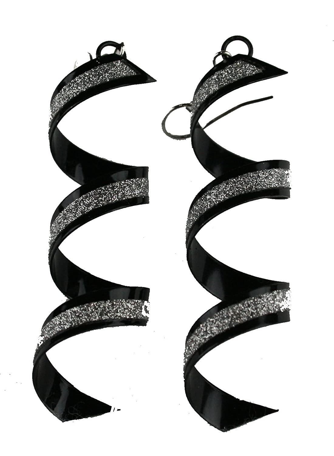 Twist Spiral Dangle Earrings in Silver Gold or Black For Women and Girls Sandar Fashion Jewelry New Collection