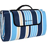 zhbo Outdoor Picnic Blankets,Camping Blankets Waterproof Backing Size 200cm x 150cm Soft Touch Velveteen Material Camping Picnic Beach Pad