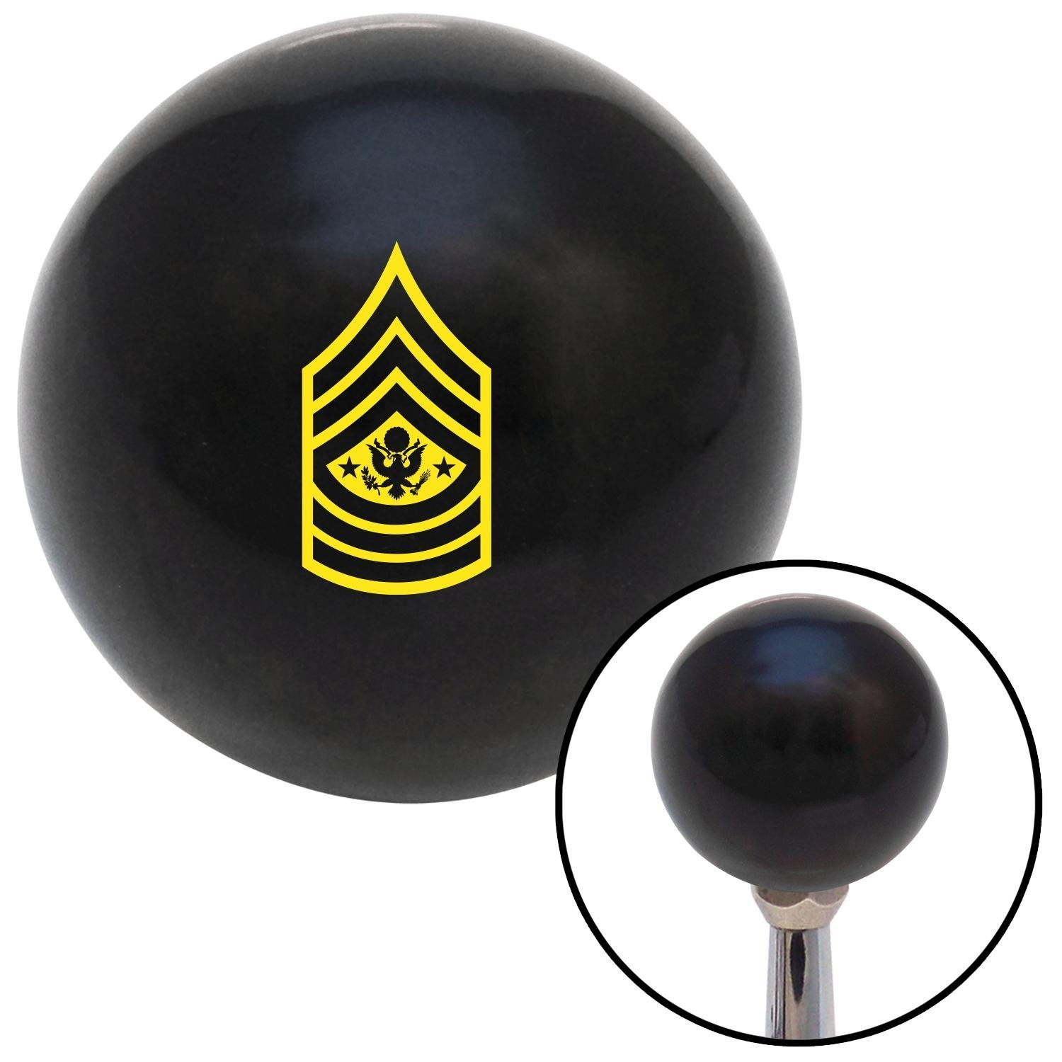 American Shifter 34987 Ivory Shift Knob with 16mm x 1.5 Insert Black Hawaiian Flower 9