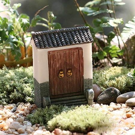 Adorno para Jardín Decorativo Puerta Mini Resina Miniatura Regalo Microlandschaft Ecológico Fondo Manualidades Decoración Hogar (2) - Como en la Imagen Show, 2: Amazon.es: Hogar