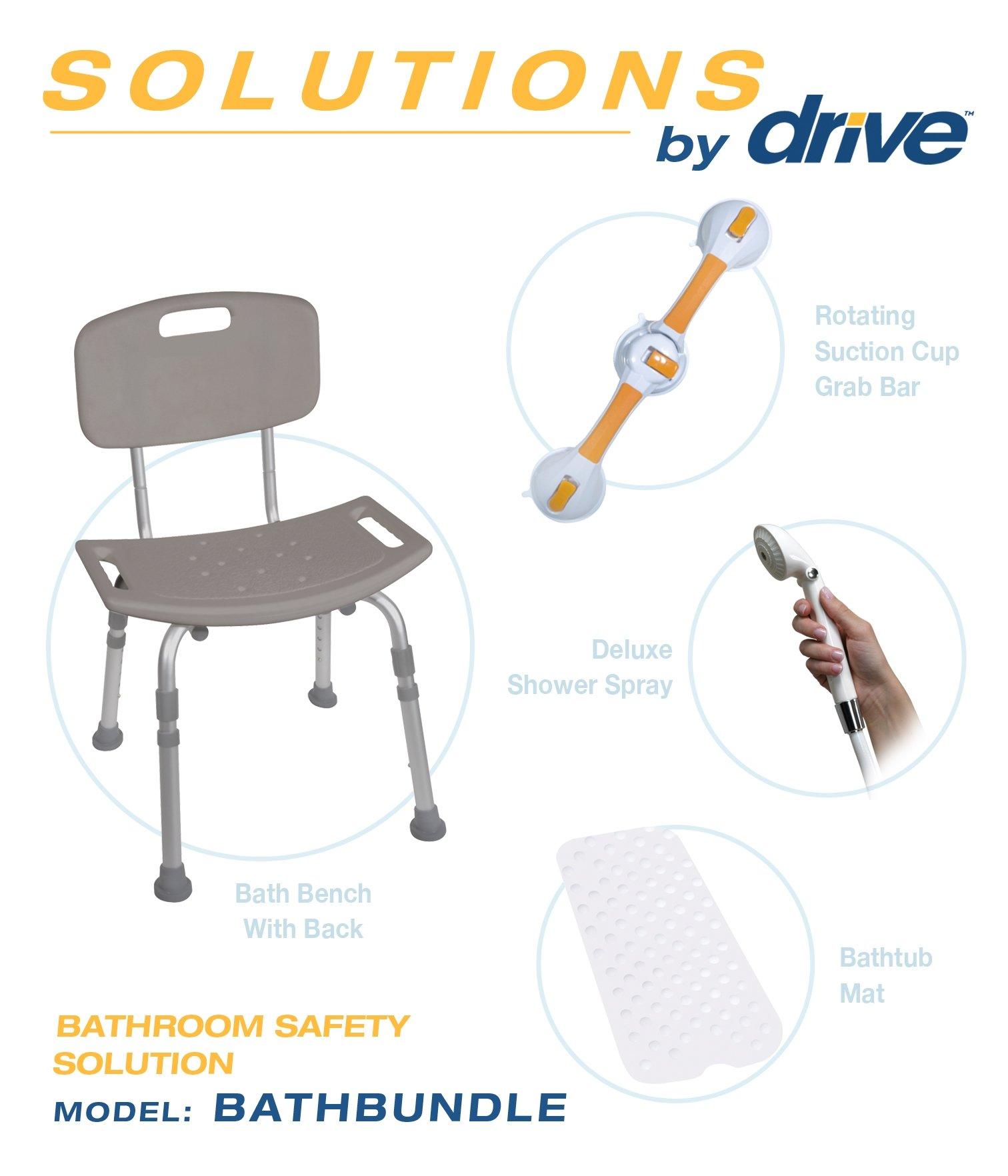BATHBUNDLE - Drive Medical Shower Tub Chair Bathroom Safety Bundle