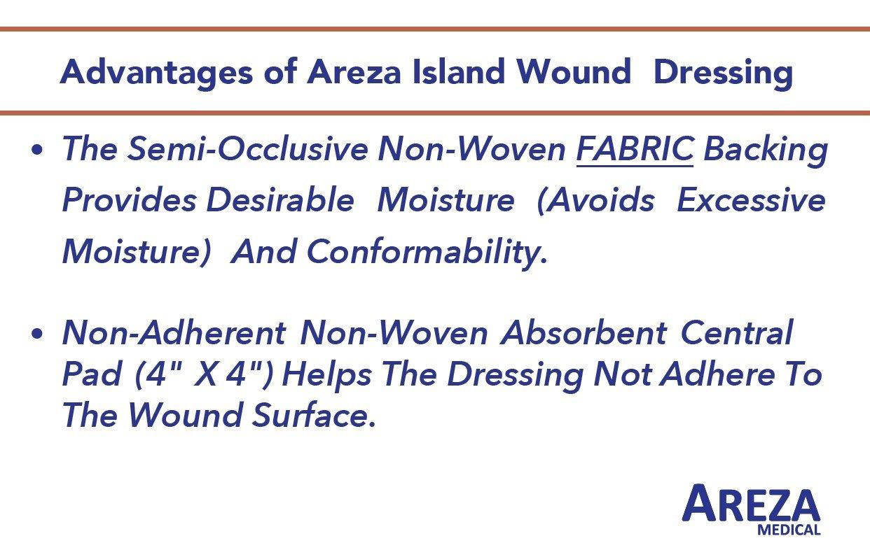 Bordered Gauze Island Dressing 6'' x 6'' Sterile Latex Free 30 Per Box